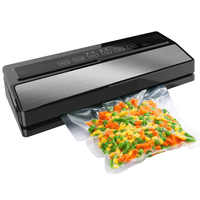 Food Vacuum Sealer Packing Sealing Machine Including 5Pcs Bags and 1pcs Vacuum Bag Packaging Rolls 20cmX200cm 220V 110W