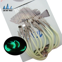 2015 new 30pcs/pack Luminous Fishing Hook 12-18# Barbed Hooks Pesca Tackle Accessories High Carbon Steel fishing Hooks 68
