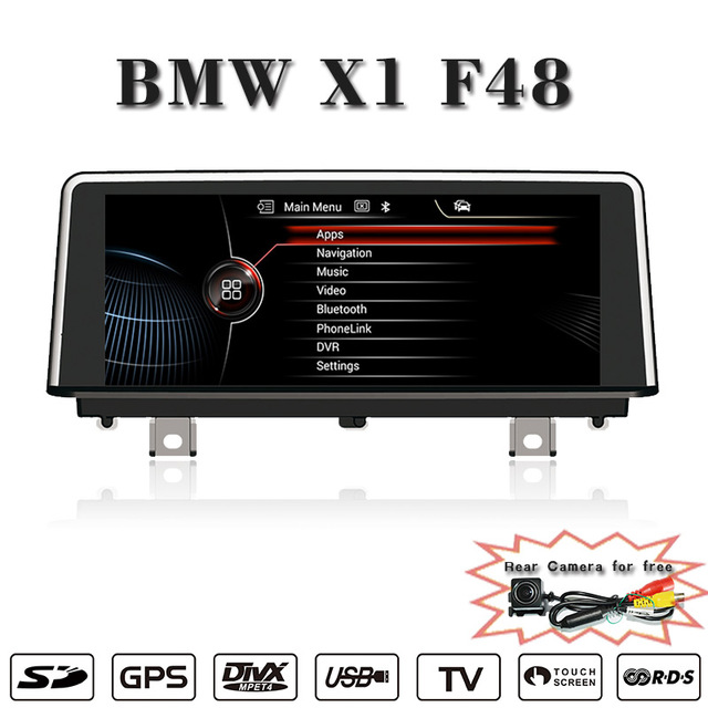 Support Carplay Anti Glare Android 10 25 Inch Reversing Track Function For Bmw X1 F48 Dvd