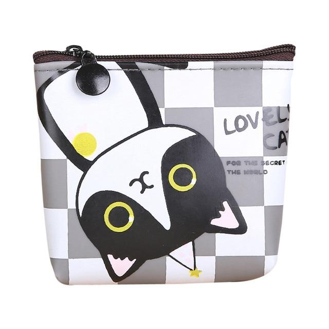1809de2453d5 4 Styles Mini Cute Cat Plush Coin Purse Animals Prints Zipper Wallets  Harajuku Children Bag Women Billeteras Cute Monedero Gato