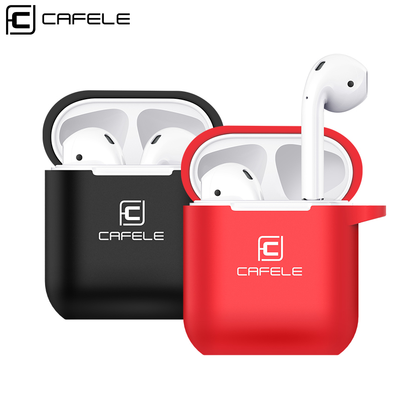 все цены на Cafele for AirPods Case Protective Silicone Cover and Skin for Apple Airpods Charging Case 3 In 1 Protective Silicone Cover онлайн