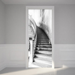 Czarno-białe schody naklejki ścienne 3D Retro kreatywne DIY Home tapeta z dekorem PVC samoprzylepne wodoodporne malowidła 3 D naklejki