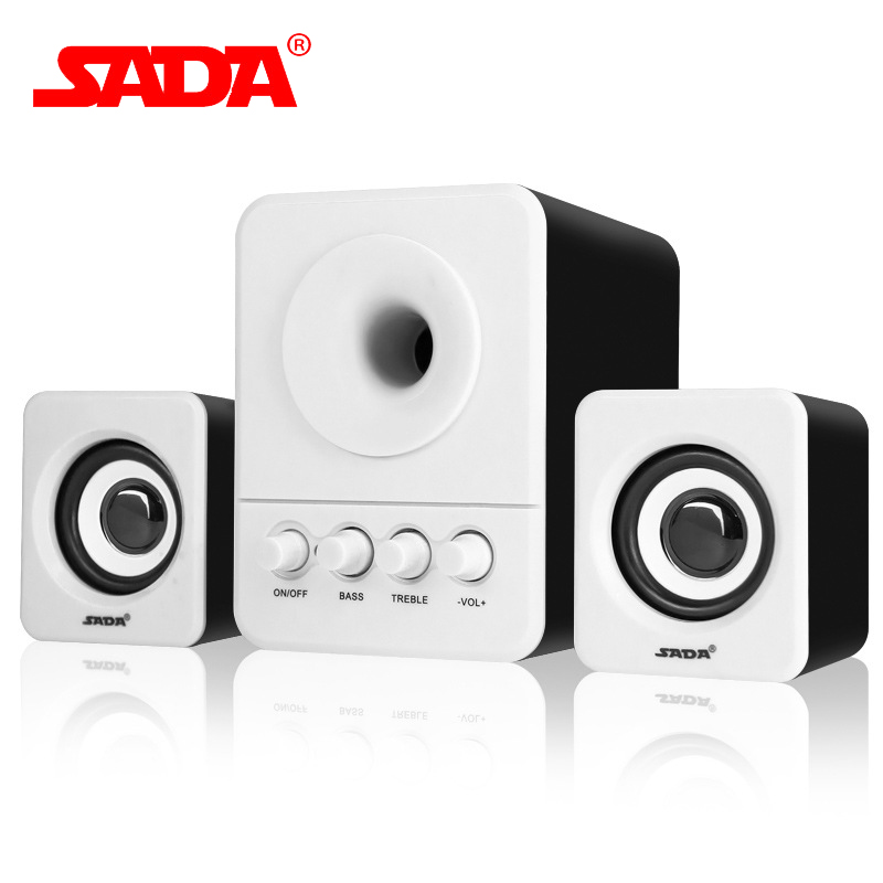 SADA D 203 Top Quality Surround Subwoofer Stereo Bass PC USB Speaker Computer Speakers for iPhone