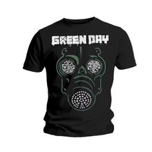 Band T Shirts Crew Neck Green Day Mask Short Printing Shirt For Men