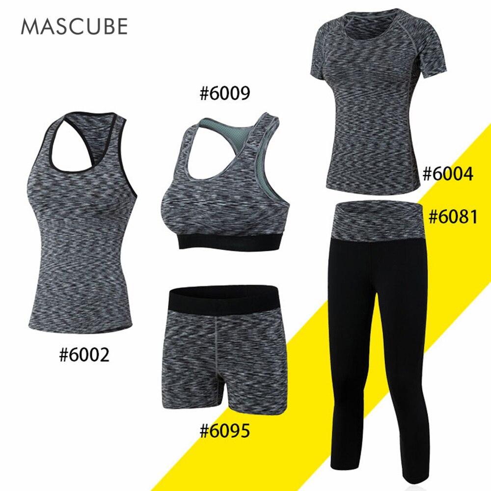Mascube тренажерный зал Для женщин толстовка упражнения Костюмы комплект Фитнес Йога Бод ...