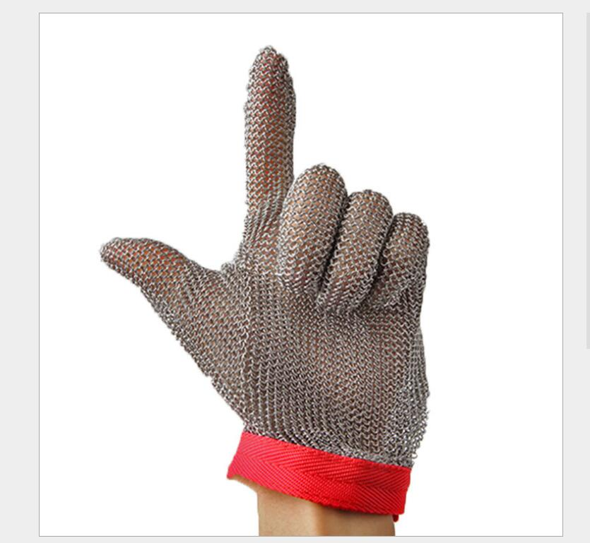 Stainless Steel Wire Mesh Cut Resistant Gloves Butcher Proof Meat Process  Mitten Anti Cut Gloves  anti Shark suit