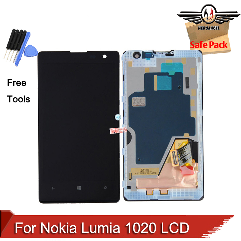 For Nokia Lumia 1020 LCD Display Touch Screen Digitizer LCD Assembly with Frame+Tools
