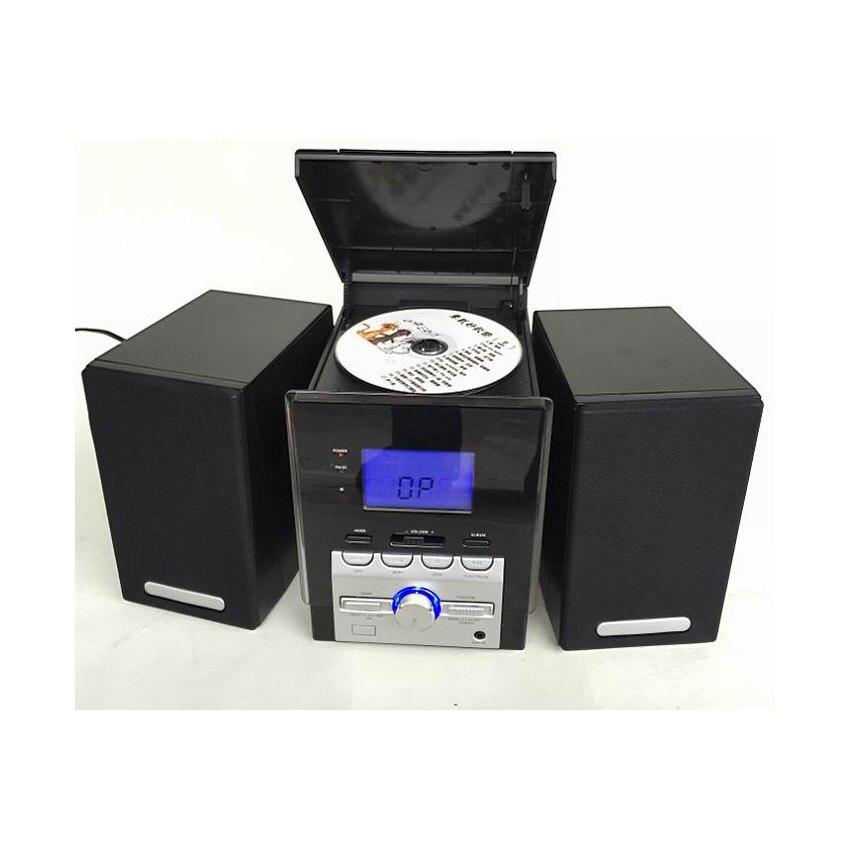 Reproductor de CD Reloj AM Radio FM Pantalla LCD 2X2W Altavoz Cajas - Audio y video portátil