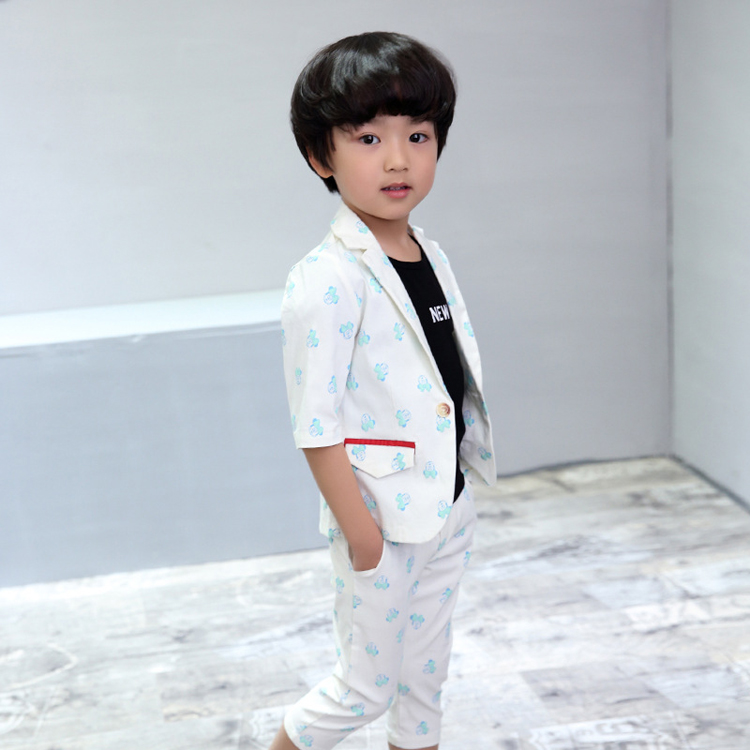 ActhInK New Baby Boys Summer Formal Cartoon Clothing Set Kids Half - Children's Clothing - Photo 2