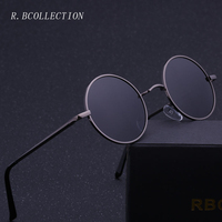 R BCOLLETION Vintage Style Round Sunglasses Anti UV Polarized Metal Mirror Frame Sun Glasses Brand Design