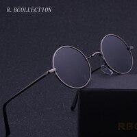 R BCOLLETION Vintage Style Round Sunglasses Anti UV Polarized Metal Mirror Frame Sun Glasses Brand Design