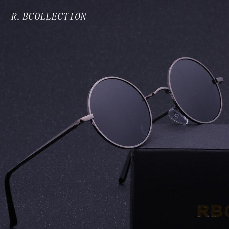 R. BCOLLECTION Steampunk Ronda Gafas de Sol Hombres Mujeres Anti-Ultravioleta Polarizada Marco de Metal Retro Gafas de Sol Espejo gafas de sol 801