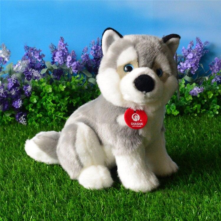 Free Shipping Simulation Husky Plush Toys Cute Alaskan Malamute Stuffed Toy Soft Puppy Plush Dolls Children