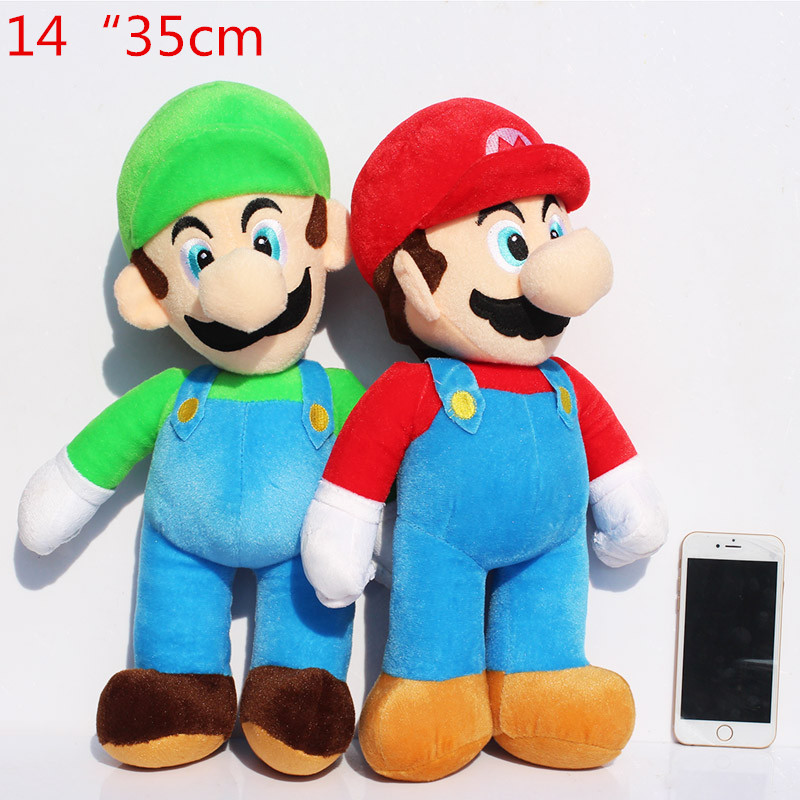 Toys Mario-Luigi Soft Dolls Gifts Stuffed Plush for 35cm Super-Mario-Bros High-Quality