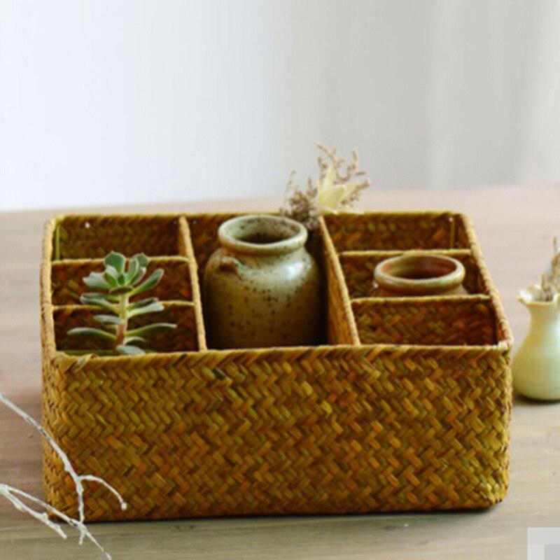 Kuti ruajtëse e mesme dhe e vogël rurale e punuar me dorë Shporta - Magazinimi dhe organizimi në shtëpi - Foto 4