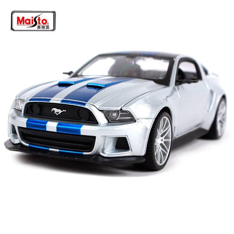 Maisto 1:24 besoin de vitesse 2014 Ford Mustang GT 5.0 modèle de voiture de course moulé sous pression jouet nouveau dans la boîte 32361