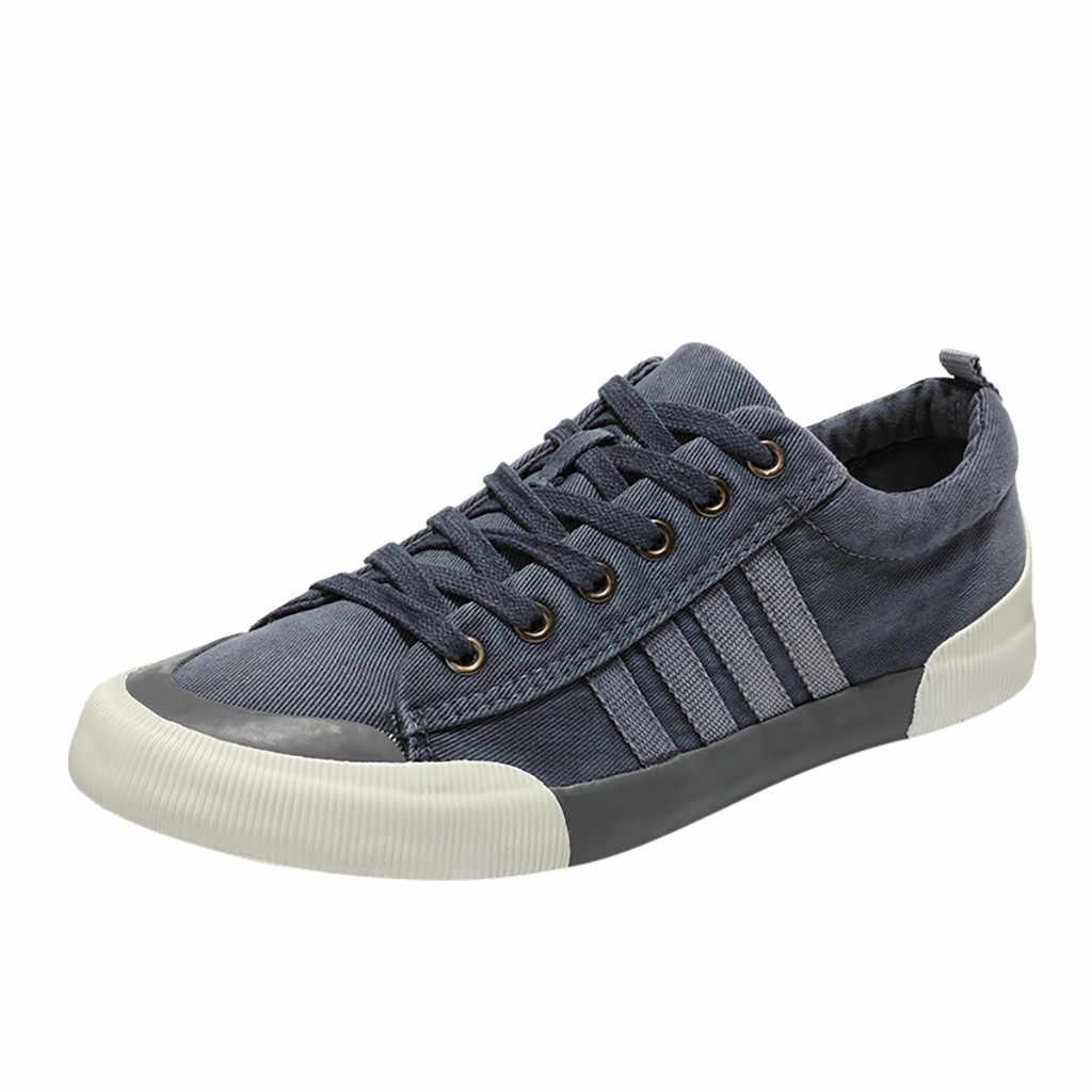 SAGACE zapatos para hombre lona versión coreana de moda casuales al aire libre zapatos de tablero zapatillas de deporte hombre Dropshipp