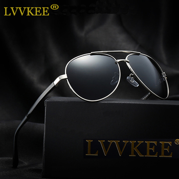 LVVKEE Aluminum Magnesium Polarized Men Sunglasses Unisex Brand Design Anti-Glare Protect Driving Sun Glasses Male Oculos de sol
