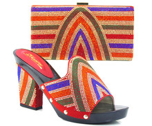 African Hochwertigen Schuh Und Tasche In Frauen Pumpen Sandale Mit Strass Italienische Schuhe Und Passende Tasche Set TH07