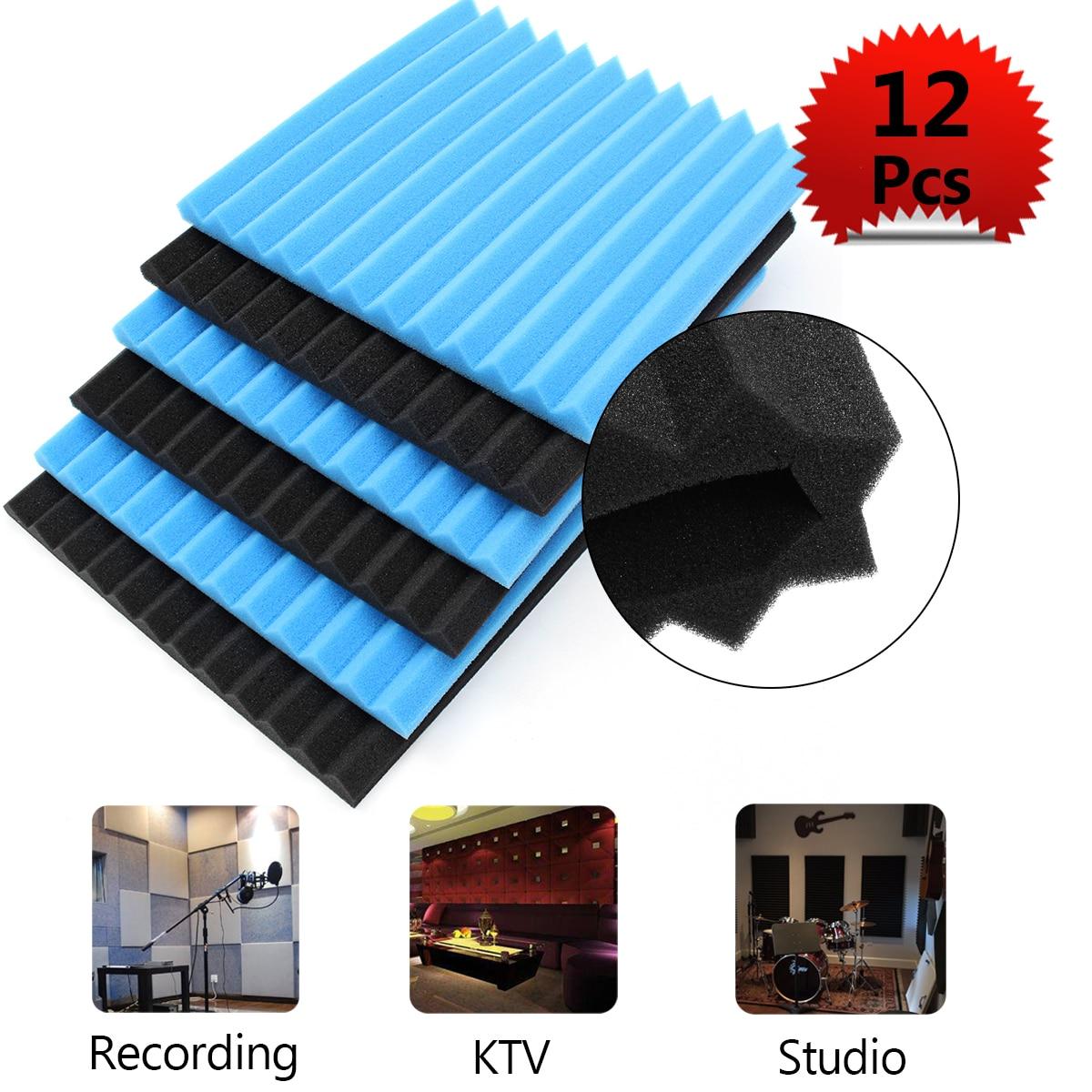 12x Soundproofing Foam Acoustic Absording Treatment Foams Home Wall Car Wedge Tiles Studio Foam KTV Studio Noise Sponge Foam US 12x soundproofing foam acoustic absording treatment foams home wall car wedge tiles studio foam ktv studio noise sponge foam us