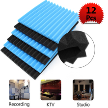 12x Soundproofing Foam Acoustic Absording Treatment Foams Home Wall Car Wedge Tiles Studio Foam KTV Studio Noise Sponge Foam US