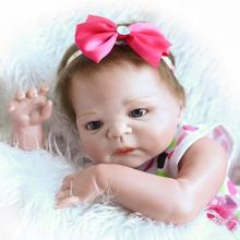 22 inch 57 cm Silicone reborn dolls, lifelike doll reborn Beautiful princess dress lovely doll