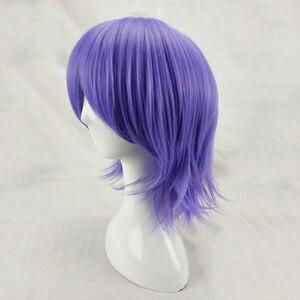 Image 3 - HAIRJOY человек Для женщин фиолетовый Косплэй парик короткий кудрявый Синтетический волос вечерние парики с челкой 7 Цвета в наличии БЕСПЛАТНАЯ ДОСТАВКА