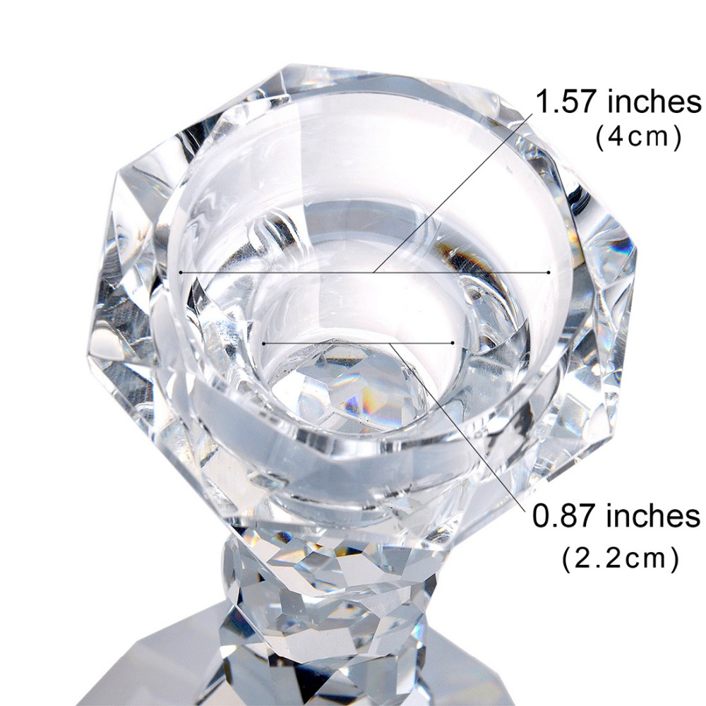 buy 57 inch european crystal glass candle holder romantic creative candlelight dinner wedding home table decoration from reliable