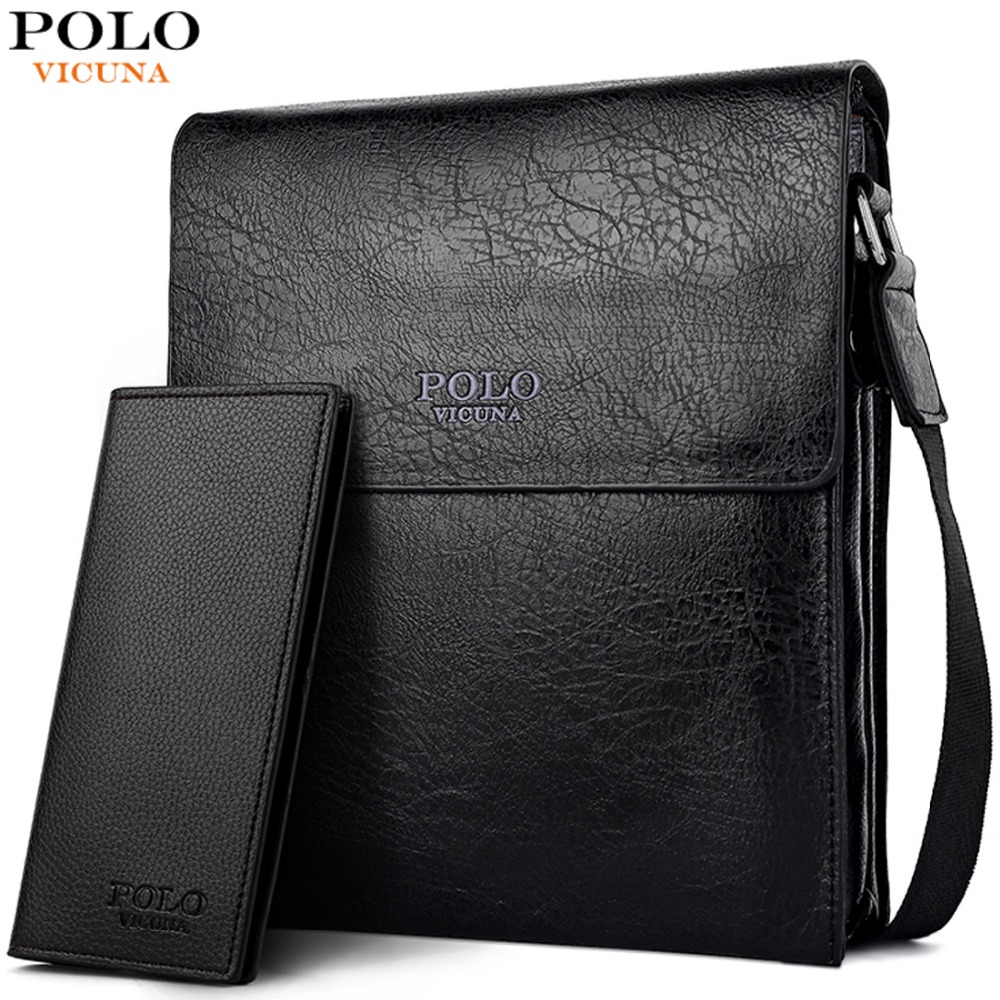 VICUNA POLO Extra Large Capacity Multilayer Mens Messenger Bag Classic Solid Leather Shoulder Bag Casual Buiness Man Bag Handbag