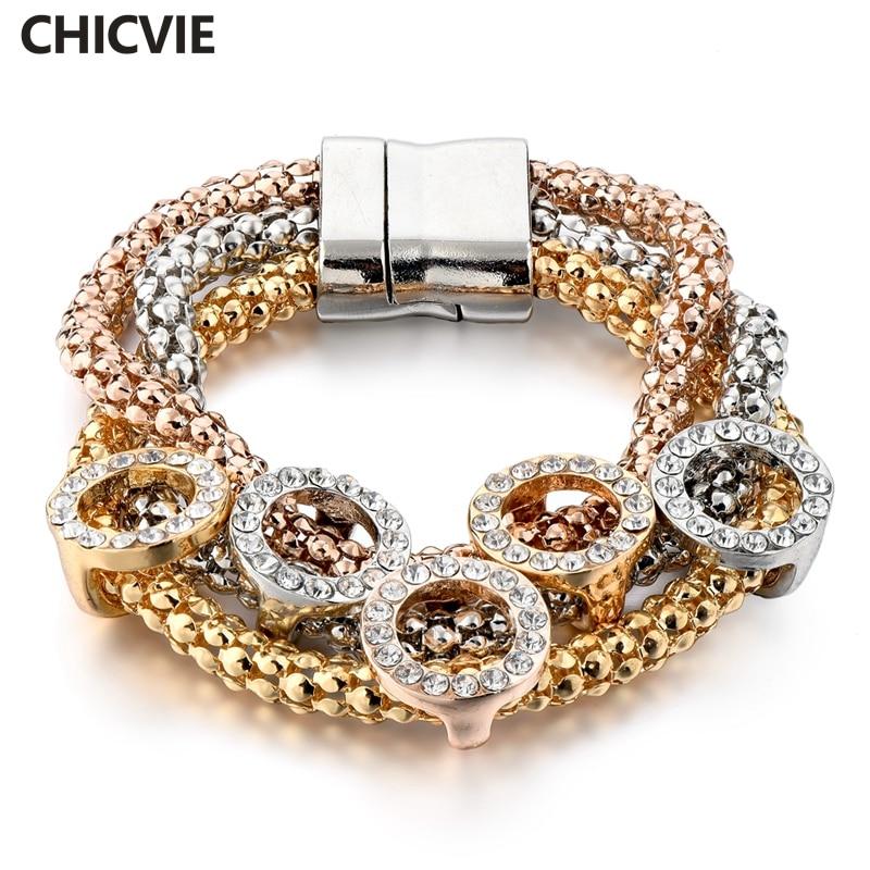 Купить женский браслет из нержавеющей стали с кристаллами sbr160366