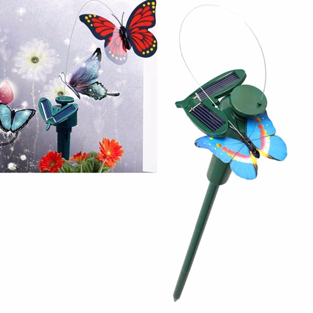 Solar Powered Dancing Flying Butterfly Birthday Gift Toy Balcony Garden Yard Decoration Flying Solar Toys For Children