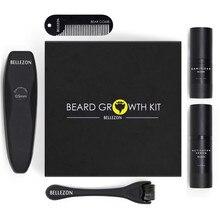 4 sztuk/zestaw Barbe broda zestaw wzrostu włosów wzmacniacz wzrostu zestaw broda wzrost Essentital Oil twarzy zestaw do pielęgnacji brody najlepszy prezent dla mężczyzn