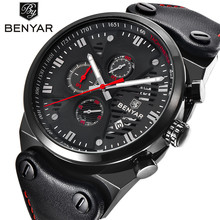 Relogio Masculino Mens Watches BENYAR Brand Watch Outdoor Sports Clock Three Dial Waterproof Chronograph Wrist Watches for Men