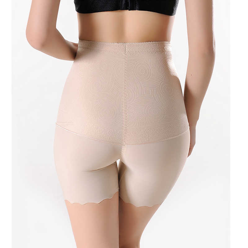 Women Power Waist Trainer and Mid-Thigh Control Short Ice Silk Soft Butt Lifter Panties Body Shaper Seamless Slimming Shapewear