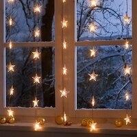 2 metros de largura e 0.8 metros de altura doce fundo casamento luzes da cortina de LED decorativo estrelas piscando janela de lâmpadas