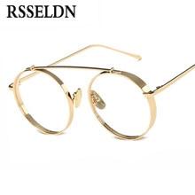 8bc4a6a873053f Rsseldn alta calidad ronda Gafas Marcos vintage mujeres ojo óptico Gafas  lente transparente retro clásico Gafas gafas hombres oc.