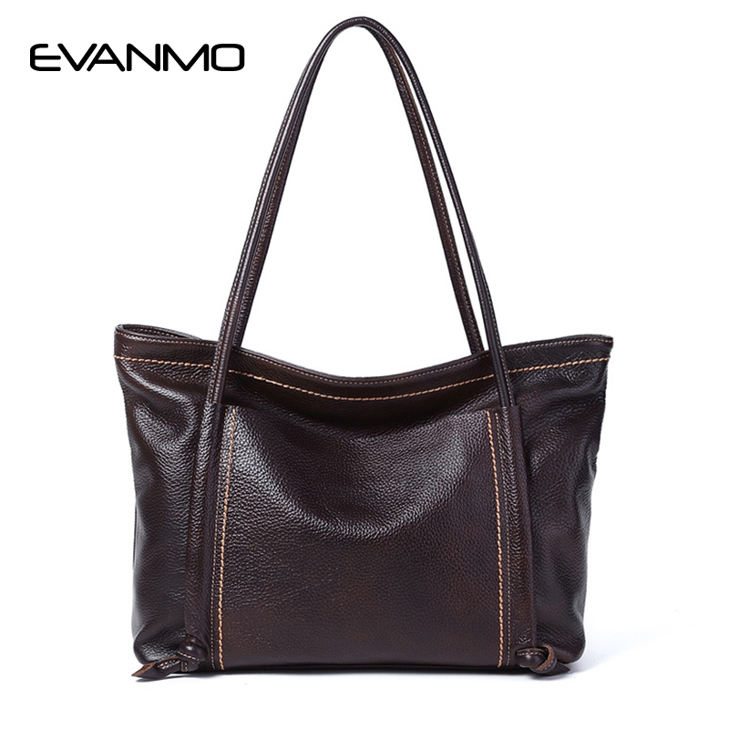 2018 Luxury Brand Women Leather Handbag Soft Shoulder Bags Genuine Leather Bags for Women Large Shopping Bag Bolsa Feminina sales zooler brand genuine leather bag shoulder bags handbag luxury top women bag trapeze 2018 new bolsa feminina b115