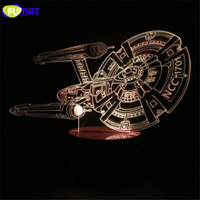 3D Lamp Star Trek  Iron Man Star Ship Night Light Bedside Lights Table Lampara With Changeable Spaceship Night Light Xmas Gift