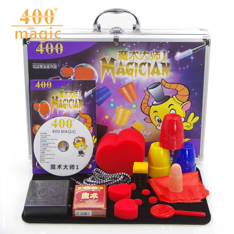 Aluminum alloy magic box 1(instruction + CD) magic box upscale children's magic prop set factory direct sales remasters box 4 compact disc set cd