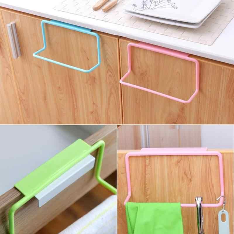 1 unidad multifunción baño toallero armario puerta trasera basura bolsa almacenamiento soporte colgante cocina Gadget armario de cocina