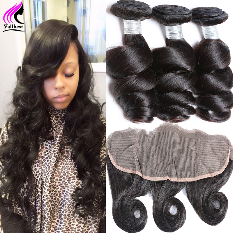 Brazilian Loose Wave With Frontal Closure Bundle 3 Bundles Loose Wave With Frontal Ear To Ear Lace Frontal Closure With Bundles