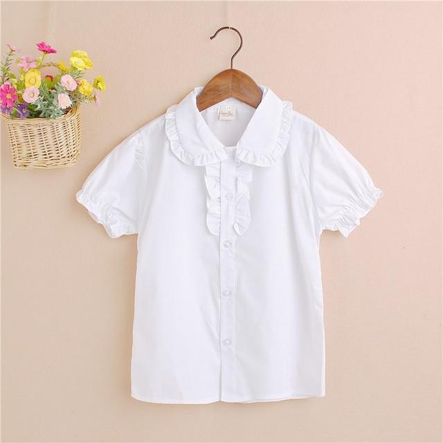 Solide Blanc Bebe Enfants Garcons Chemisier Blanc Chemises A Manches