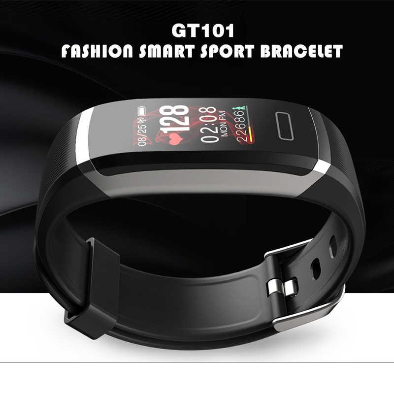 Imosi умный Браслет GT101 цветной экран монитор сердечного ритма фитнес-трекер Bluetooth Смарт-браслет для мужчин для iPhone8 huawei