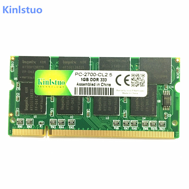 Kinlstuo New DDR1 1GB ram PC2700 DDR333 200Pin Sodimm Laptop Memory DDR 1GB free shipping