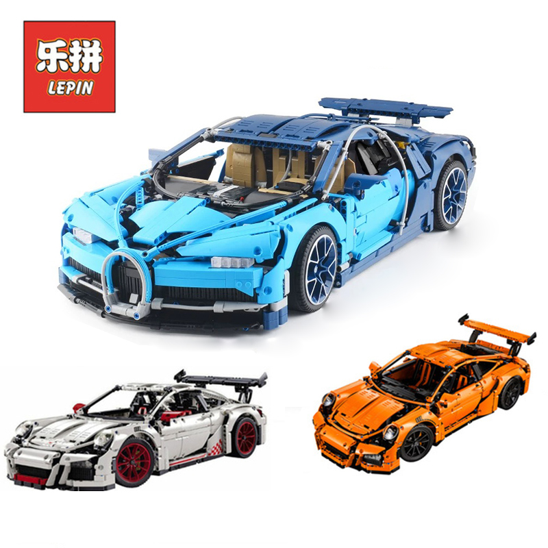 Lepin 20001 Technic Series 20001B 20086 Bugatti super Car Set Model Building Blocks Bricks Compatible Legoinglys Toys 42056