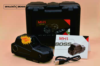 MH1 Tatical Optics Red Dot Sight Hartman Reflex Sight Largest Field of View Night Vision Dual Power Source (Black)