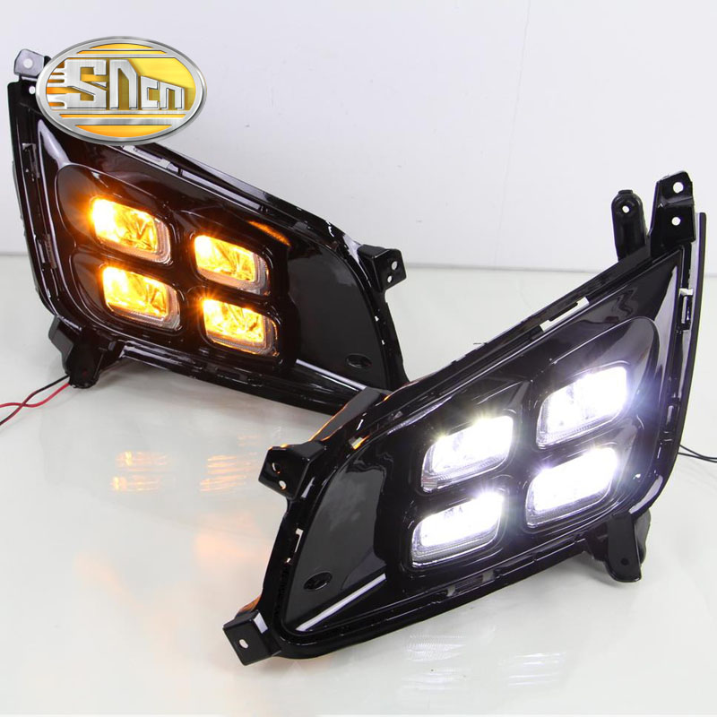 SNCN LED Daytime Running Light For Kia Optima K5 2013 2014 2015,Car Accessories Waterproof ABS 12V DRL Fog Lamp Decoration стоимость