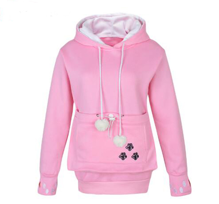 Cat Lovers Hoodies With Cuddle Pouch Dog Pet Hoodies