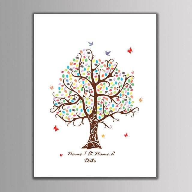 Aliexpress.com : Buy Festival DIY Fingerprint Tree Signature Canvas ...