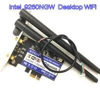 Dual Band Desktop PCI E 1X Wireless AC 9260 Intel 9260NGW 802.11ac 5Ghz 1.73Gbps WiFi Bluetooth 5.0 Game Adapter for Windows 10